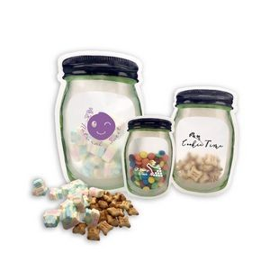 Stand-up Mason Jar Style Zipper Bag (Large)