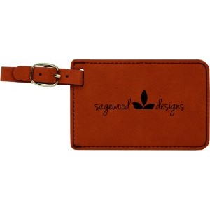 4.25x2.75 Rawhide Leatherette Luggage Tag