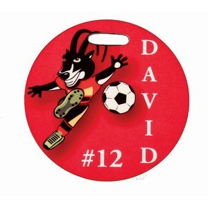 4 inch Full Color Round Sport Bag Tag