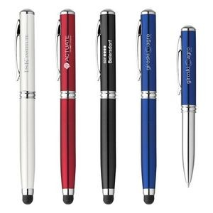 Metal Ballpoint Stylus Pen LED Laser Pointe