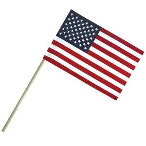 "4"" x 6"" Economy Cotton U.S. Stick Flags on a 10"" Dowel"